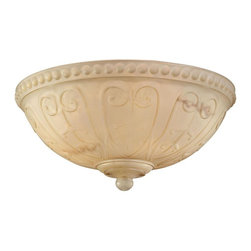 Savoy House - Savoy House-FLGC-850-Indigo - Ceiling Fan Light Kit - A beautifully detailed light kit with Cream Carved Marble glass and a Cream finial.