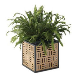 Anova Furnishings - Anova Furnishings Mezzo Planter - MPLANTER-BLACK PANEL-ALUMINUM FRAME - Shop for Planters and Pottery from Hayneedle.com! The Anova Furnishings Mezzo Planter is a uniquely eye-popping alternative to traditional planters that will make all the difference to the aesthetic of your site. This piece boasts steel construction and a rust-resistant coating so Mother Nature's worst will have no effect.About Anova FurnishingsThe history of Anova Furnishings can be traced back to 1970 when Bill Gilbert founded Clean City Squares based on a single model litter receptacle. Now the expanded Anova Furnishings offers a vast array of benches ash urns recyclers tables bike racks and other fine site furnishings. Committed not only to peak product quality but the conservation of our environment Anova Furnishings offers items constructed with recycled materials whenever possible adopts environmentally-friendly processes and works to increase the amount of products which promote recycling. Anova Furnishings is the clear choice for all of your site furniture needs and you can rest easy knowing that these products are made with the planet in mind.