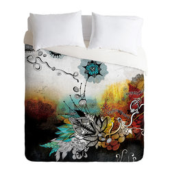 DENY Designs - Iveta Abolina Frozen Dreams Duvet Cover - Turn your basic, boring down comforter into the super stylish focal point of your bedroom. Our Luxe Duvet is made from a heavy-weight luxurious woven polyester with a 50% cotton/50% polyester cream bottom. It also includes a hidden zipper with interior corner ties to secure your comforter. it's comfy, fade-resistant, and custom printed for each and every customer.