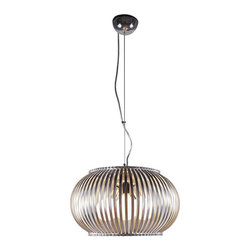 Bromi Design - Bromi Design Fullerton 3-Light Round Pendant - Add a touch of royalty to your modern home with the Bromi Design Fullerton 3-Light Pendant. With 3 60W incandescent bulb (sold separately), this round pendant light gives your interiors the light it requires. Its chrome finish adds to its grandeur.