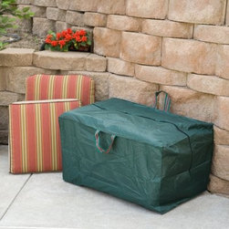 Outdoor Cushion Sto-Away - Don't even think about piling those cushions in the garage or basement this year! Stack them in this Cushion Sto-Away and rest assured they'll be totally protected against damp wind dirt - you name it. Our Cushion Sto-Away is made from PVC vinyl - impenetrable UV-stabilized and absolutely waterproof. It has a zipper and two carrying handles so not only will your cushions be protected but also they'll be easy to transport. Order today and enjoy easy organization all summer long.About BosmereFor over 25 years the Bosmere group has been established in the world of home garden and leisure. Bosmere manufactures original ideas and designs that are built to stand the test of time. One mark of their superior quality is that 20 to 30 percent of their business is exported to a world market that demands top quality service customer support and competitive pricing. Established in North America for over 15 years Bosmere has been serving the entire country and also sends wholesale goods to Canada Central and South America. Part of their focus on outstanding customer service includes products that are attractively packaged and well presented with informative instructions diagrams and photographs.