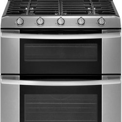 Whirlpool 30-Inch Freestanding Double Oven Gas Range With 5 Sealed Burners - Great price for a sealed burner gas stove with a double oven to boot.