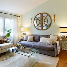 Eclectic Living Room by Powell Brower Interiors