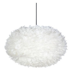 Z Gallerie - Whisper Feather Pendant - For a fun cloudy effect in a room, add these to a little boy's room and paint the ceiling blue.