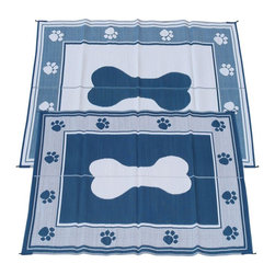 Fireside Patio Mats - Contemporary Indoor/Outdoor Fireside Patio Mats Rugs Doggy Blue 6 ft. x 9 ft. - Shop for Flooring at The Home Depot. Fireside Doggy Blue 72 in. x 108 in. Reversible Patio Mat comes in a Blue and White color combination. This mat is large enough to comfortably sit 2 to 4 adults. Fireside reversible RV / Patio Mats will add a touch of elegance to your deck or patio. These high quality Polypropylene (plastic) mats are reversible with a complimentary pattern on the opposite side. You get two patterns for one low price. Fireside Patio Mats are lightweight and compact when folded so they are easy to travel with and easy to store. All of our Fireside indoor/outdoor reversible patio mats are stain and fade resistant and clean up is a breeze. Simply rinse your mat with a garden hose and allow to air dry. Fireside reversible patio mats have corner tie-down loops to stake the mat to the ground in windy conditions (tent stakes sold separately). Use our lightweight reversible patio mats to spruce up a tired old deck or patio while camping or RVing on the beach by the pool for picnics at car races while tailgating in the backyard or in the playroom or recreation room. Whether you call them RV mats RV awning mats or simply patio mats Fireside Patio Mats offers high quality reversible mats that are simply gorgeous and functional. Color: Blue.
