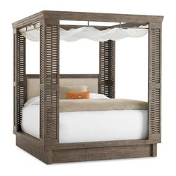 Shutter Island Bed - This would make me feel like I'm on an island vacation every night! I love the gray wash finish.