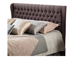 Great Deal Furniture - Hempstead Wingback Queen to Full Tufted Brown Fabric Headboard - Spruce up the look of your bedroom with this simple addition. The Hempstead headboard is designed with button tufts and the quilted wingback feature makes this piece standout among its competitors. It can attach to almost any queen or full sized bed, as well as adjust according to the height of your mattress.