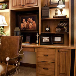 Antler Desk Roller Chair - Waldo Canon Fire Rebuild Parade of Homes - photo by Tweeds Fine Furnishings.