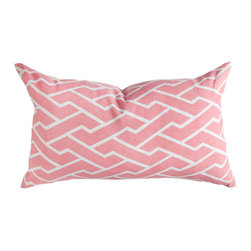 """Caitlin Wilson Textiles - Pink City Maze Pillowcase, 14""""x20"""" - Navigating through bustling city streets, this fresh geometric pops in every color."""