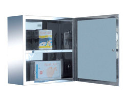 Renovators Supply - Medicine Cabinets Bright Stainless Steel Medicine Cabinet 11 7/8'   13515 - Medicine Cabinet Small. Maximize storage in style, this compact medicine cabinet is 100% stainless steel inside and out. The perfect investment for any bathroom. This cabinet is reversible. Overall measures: 11 7/8 inch H x 11 7/8 inch W x 4 3/4 inch projection.