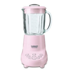 Cuisinart SPB-7PK SmartPower 7-Speed Blender - The Cuisinart SPB-7PK SmartPower 7-Speed Blender gives you the kind of power and options that are a must-have for any foodie who's worth his fair-trade sea salt. In a candy pink housing, you get a motor that's strong enough to crush ice but channels this power into seven practical speeds that let you do anything from stirring to frapping and chopping. Indicator lights let you know what's going on, and the wide-mouth, 40-ounce glass jar has a tight-fitting silicone lid with 2-ounce measuring insert that will let you put in and get out whatever fine mixture you're creating.