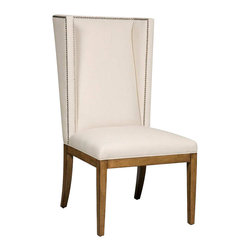Hooker Furniture - Hooker Furniture Brookhaven Upholstered Dining Side Chair in Cherry - Hooker Furniture - Dining Chairs - 300350034 - What better to serve with comfort food than a comfort chair? Our soft and inviting dining side chairs, in styles ranging from Neoclassic to contemporary, will comfort you at the end of the day and welcome your guests.