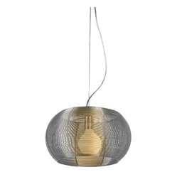 Bromi Design Lenox 1-Light Stainless Steel Pendant