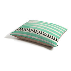 Allyson Johnson Mint Stripes And Arrows Dog Bed - Perfect for dogs, cats…heck, even a pig! With our cozy pet bed made of a fleece top and waterproof duck bottom, you're bound to have one happy animal catching some zzzz's in ultimate comfort.