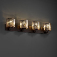 Justice Design Fusion Modular 4-Uplight Bath Bar (Halogen) in Dark Bronze FSN-88