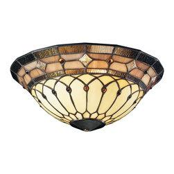 Kichler Lighting - KICHLER FANS 340001 Incandescent Art Glass Bowl Ceiling Fan Light Kit - DECORATIVE FANS 340001 Incandescent Art Glass Bowl Ceiling Fan Light Kit