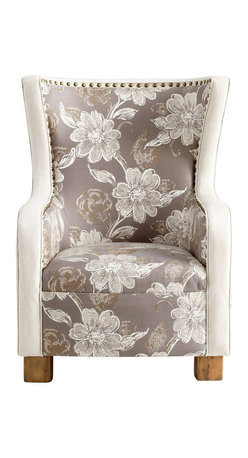 Cyan Design - J. P. Buttercup Chair - J. p. buttercup chair - grey and patterned fabric