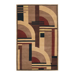 Nourison - NOUR-44979 Nourison Dimensions Area Rug Collection - This collection features modern abstract and geometric designs in rich contemporary colors. The addition of Luxcelle in some of the designs adds sheen and movement. Make a bold artistic statement in any room with these exciting rugs.