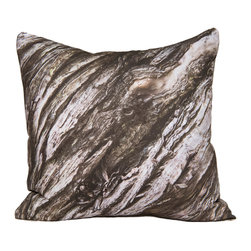 """Kuchi Kuu - Key Largo Woodland Collection Artisan Pillow, 20"""" x 20"""" - Eco-friendly, artisan pillow covers are created from photographic images found in nature that are applied to organic cotton twill using water-based inks.  Pillow inserts are a 10/90 combination of down and feathers.  The pillow covers can be hand washed in cold water or dry cleaned."""