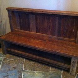Live Edge Furniture - Reclaimed Douglas Fir Entry Bench