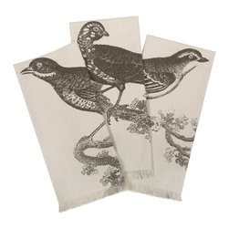 Thomas Paul - Ornithology Hand Towel Set - Bold and graphic; these are words often used to describe crazy uncles and women's fashion, but they are also the perfect words to describe the textile collection of design industry darling Thomas Paul. His prints are the perfect addition to any space needing a splash of character.