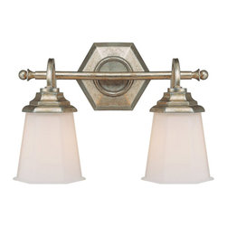 Capital Lighting - Capital Lighting Fifth Avenue Traditional Wall Sconce X-101-GW7601 - You might feel like you live in an upscale neighborhood when you decorate with this Capital Lighting Fifth Avenue Traditional Wall Sconce. It's a simple yet elegant piece with a hexagonal backplate and horizontal bar in a winter gold finish that supports two soft white glass shades. This visually pleasing light fixture will effortlessly add a touch of elegance to any room.