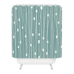 DENY Designs - Heather Dutton Entangled Shower Curtain - Who says bathrooms can't be fun? To get the most bang for your buck, start with an artistic, inventive shower curtain. We've got endless options that will really make your bathroom pop. Heck, your guests may start spending a little extra time in there because of it!