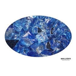 "Boone Hearth - 10 LB Bag of 1/4"" Sapphire Reflective Fire Glass - 10 LB Bag of 1/4"" Sapphire Reflective Fire Glass"