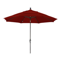 California Umbrella - 11 Foot Olefin Aluminum Crank Lift Collar Tilt Market Umbrella, Bronze Pole - California Umbrella, Inc. has been producing high quality patio umbrellas and frames for over 50-year . The California Umbrella trademark is immediately recognized for its standard in engineering and innovation among all brands in the United States. As a leader in the industry, they strive to provide you with products and service that will satisfy even the most demanding consumers.