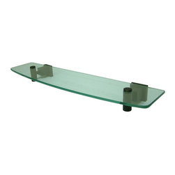 "Kingston Brass - Glass Shelf - Kingston Brass' bathroom accessories are built for long-lasting durability and reliability. They are designed so you can easily coordinate matching pieces. Each piece is part of a collection that includes everything you need to complete your bathroom decor. All mounting hardware is included and installation is easy.; 1-3/4"" square bases; 19-5/8"" total length; Premium finish; Easy installation; All mounting hardware included; Material: Brass/Glass; Finish: Oil Rubbed Bronze; Collection: Claremont"