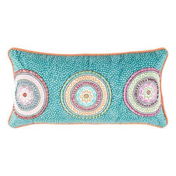 Rizzy Home - Teal and Orange Decorative Accent Pillows (Set of 2) - T04161 - Set of 2 Pillows.