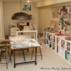 Eclectic Home Office by Melissa McLay Interiors