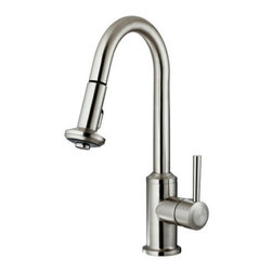 """Vigo - Vigo VG02012ST Stainless Steel Kitchen Faucets Kitchen Faucet Single - Kitchen Faucet Single Handle with Pull-Out Spray 16.5"""" Height  Make your kitchen """"pop"""" with this functional Vigo faucet.  Vigo Vg02012 Includes:    Pullout spray kitchen faucet  All mounting hardware  Hot and cold water lines    Vigo Vg02012 Faucet Features:    Solid brass construction which ensures durability and longer life  Spiral pull-down spray head for powerful spray with aerated flow  Easy to clean pullout spray face  Unique finishing process resists corrosion and tarnishing, exceeding industry durability standards  High-quality ceramic disc cartridge ensures maintenance-free use  360-degree swivel spout  Retractable spout expandable up to 30""""  Single-hole installation  Single lever water and temperature control  Water pressure tested for industry standard  2.2 GPM flow rate  Limited Lifetime Warranty    Vigo Vg02012 Faucet Specifications:    Spout height: 16.5""""  Spout reach: 8.625""""  2.2 GPM Flow Rate    Vigo Vg02012 Faucet Certifications:    UPC, cUPC, CSA, IAPMO, ANSI and SCC Listed  ADA Compliant  Alternate Configurations of the Vg02012:    Vg02012K1: This model includes matching deck plate  Vg02012K2: This model includes matching soap dispenser  Kitchen Combos: For Vigo kitchen sink and faucet combos that include this kitchen faucet search: Vg02012 Combos"""