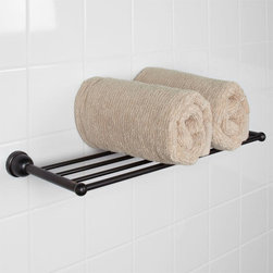 Cade Towel Rack - The generously sized Cade Collection Towel Rack makes it a perfect storage solution for your bathroom. Made of solid brass, it's also a long-lasting solution.