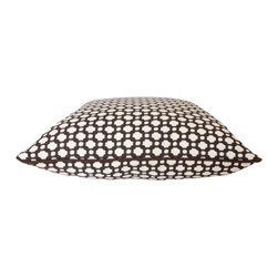The Pillow Studio - Schumacher Betwixt Pillow Cover in Brown with Chocolate Brown Piping - This textured pillow will become a subtle focal point to any room; it has a great geometric design and adds just the right amount of color.