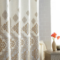 """Charisma - """"Marrakesh"""" Shower Curtain - TAUPE - Charisma""""Marrakesh"""" Shower CurtainDetailsFrom Charisma .Made of cotton.Machine wash.72""""Sq.Liner not included.Imported.Designer About Charisma:Charisma linens are known for an understated elegance with attention to detail and quality workmanship. The Charisma collection includes fine bedding and towels that are often crafted from luxurious fabrics such as Egyptian cotton and Supima cotton for a truly soft touch that endures."""