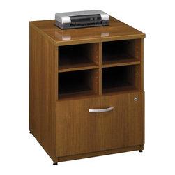 "BBF - Bush Series C 24""W Storage Unit in Warm Oak - Bush - Storage Cabinets - WC67504 -"