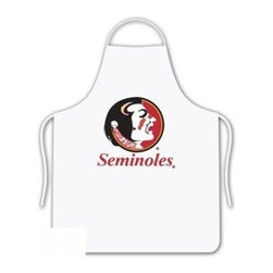 Sports Coverage - Florida State Seminoles Tailgate Apron - Collegiate Florida State University Seminoles White screen printed logo apron. Apron is 100% cotton twill with screenprinted logo. One Size fits all.