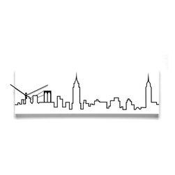 Progetti - Skyline Wall Clock - Wall clock in painted wood. Battery quartz movement. City: Milan, Florence, Turin, Verona, Paris, London, New York, Toronto and Hong Kong.
