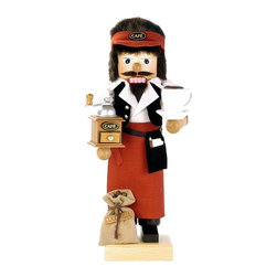 Alexander Taron - Christian Ulbricht Barista Limited Edition Nutcracker Multicolor - 0-454 - Shop for Holiday Ornaments and Decor from Hayneedle.com! You might have some jitters with the Christian Ulbricht Barista Limited Edition Nutcracker bringing its charming design into your home. This barista nutcracker is brought to life with grinder and coffee mug details. Made in Germany it's crafted by the skilled hands of artisans.About Alexander Taron Inc.For more than half a century the Taron Company has been delighting customers and collectors with traditional European gifts. These exquisite hand-crafted products range from nutcrackers and incense burners to ornaments and cuckoo clocks; unique and collectible they make unforgettable gifts regardless the occasion. Originally founded in 1949 Alexander Taron remains dedicated to providing high-quality items at great value.