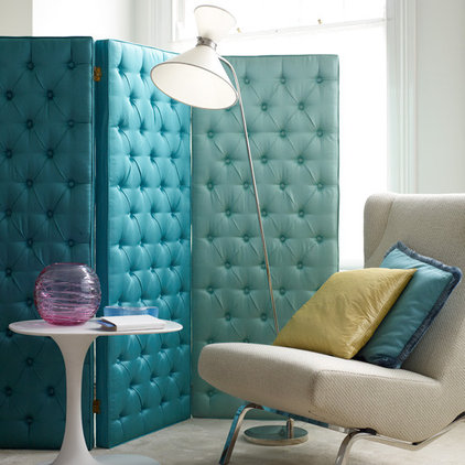 Eclectic Home Decor Turquoise upholstered screen