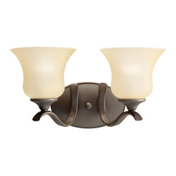 BUILDER - BUILDER Wedgeport Transitional Wall Sconce X-ZO5825 - This Kichler Lighting wall sconce from the Wedgeport Collection features warm traditional finishes in an elegant, classic shape. The tapered shades are made from a warm umber etched glass and the look is completed with an Olde Bronze finish.
