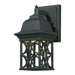 Triarch - Triarch Cfl Exterior Outdoor Sm Wall Gu24 13 Watt X-01-04187 - This Outdoor Wall Light is part of the Energy Saving collection. It features a hand-painted Blacksmith Bronze and the detailed scroll work adds to the beauty of this piece. It comes with a 13 watt PL bulb that provides the equivalent of over 60 watts from an ordinary bulb and lasts up to 5 times as long