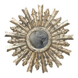 Worlds Away - Worlds Away Goya Starburst Mirror in Silver Leaf - Worlds Away Goya Starburst Mirror in Silver Leaf