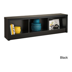 Prepac - Valhalla Designer Storage Bench - Available in stylish shades of black or espresso, this cubbyhole storage bench helps you keep organized with its three generous compartments. Use it to store shoes in your entranceway or blankets in your bedroom, or to display ornaments.