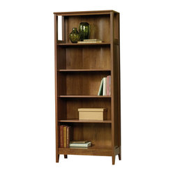 Sauder - Sauder August Hill Library Bookcase in Oiled Oak Finish - Sauder - Bookcases - 409813