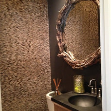 Contemporary Powder Room by Katy Bell Hamnes