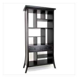 Wayborn - Wayborn Suchow Display Unit in Antique Black - Wayborn - Bookcases - 5529