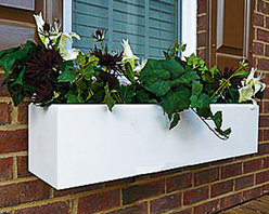 Modern Window Boxes - At Flower Window Boxes we are helping to transform the window box industry as your affordable no rot solution to window box gardening. Our Modern window boxes are made from a no rot PVC material that looks, paints, and feels identical to wood. Get the look of wood and avoid all the maintenance. Benefits include:
