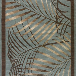 Loloi - Contemporary Ambrose 2'x3' Rectangle Blue Area Rug - The Ambrose area rug Collection offers an affordable assortment of Contemporary stylings. Ambrose features a blend of natural Blue color. Machine Made of Polypro - Viscose the Ambrose Collection is an intriguing compliment to any decor.